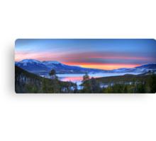 Lake Dillon East Sunset Panorama Canvas Print