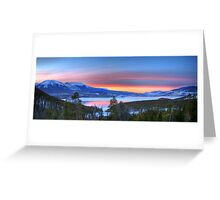 Lake Dillon East Sunset Panorama Greeting Card
