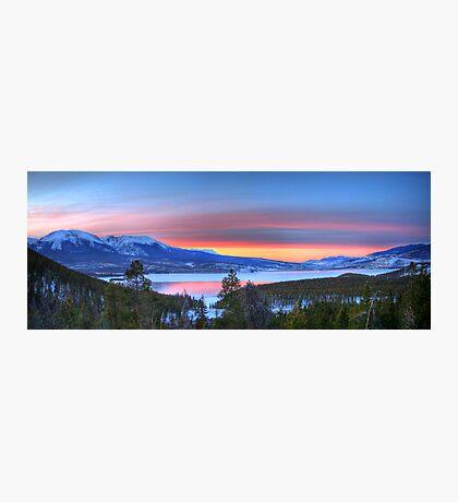 Lake Dillon East Sunset Panorama Photographic Print