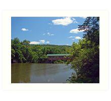 Covered Bridge, Talcottville, VT Art Print