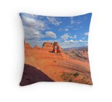 Delicate Arch from the Portal Throw Pillow