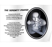 The Serenity Prayer 1 (for light colors) Poster