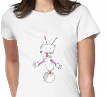 Robot Girl Womens Fitted T-Shirt