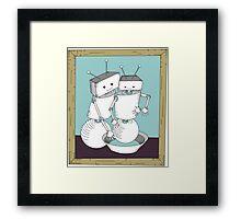 Robot Art after Cassatt's The Bath Framed Print