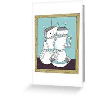 Robot Art after Cassatt's The Bath Greeting Card