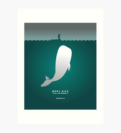 Literary Classics Illustration Series: Moby Dick Art Print