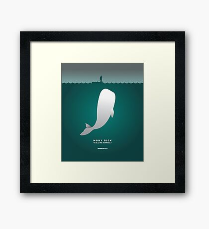 Literary Classics Illustration Series: Moby Dick Framed Print