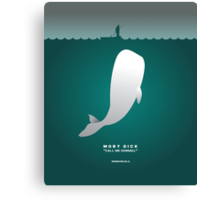 Literary Classics Illustration Series: Moby Dick Canvas Print