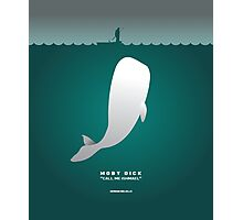 Literary Classics Illustration Series: Moby Dick Photographic Print