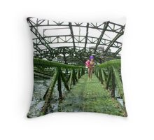 the west pier inhabitants  Throw Pillow