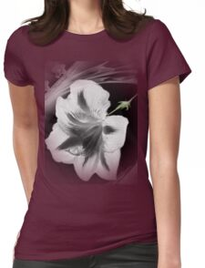 Wall Art- 18~ Black and White Flower+ Products Design Womens Fitted T-Shirt