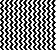 Black White ZigZag Stripe Pillow Cushion Cover by deanworld