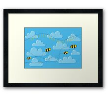 Happ - bee Birthday! Framed Print