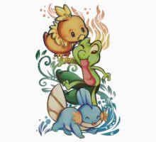 Pokemon Oras Starters Kids Clothes