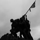 Iwo Jima in the shadows by Nicki Kenyon