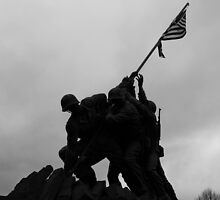 Iwo Jima in the shadows by Nicki Fellenzer