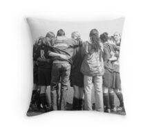 Team Huddle Throw Pillow