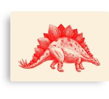 Red Stegosaurus  Canvas Print