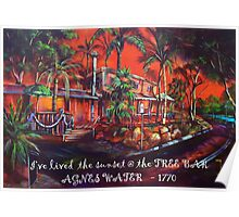 tree bar sunset - Agnes Water 1770 Poster