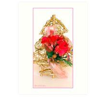 Gold Christmas Tree Art Print