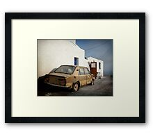 Deadcar on Santorini Framed Print