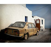 Deadcar on Santorini Photographic Print