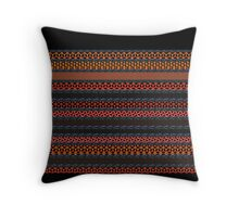 RED, ORANGE and BLACK design, gifts and decor Throw Pillow