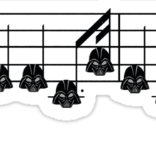 Imperial March - Vader Style Sticker