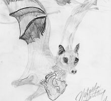 Bat Mom Carrying Her Baby Sketch by NatashaHartling