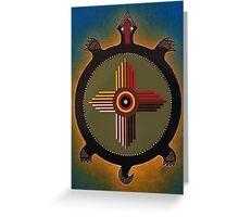 Sun Turtle Greeting Card