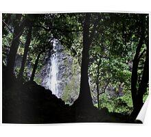 Waterfall, Tahiti Poster
