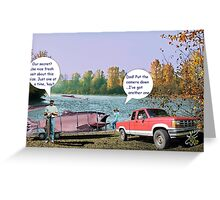 Typical Canadian trout Greeting Card