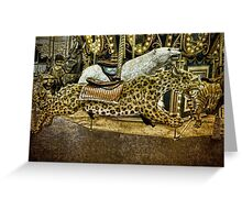 Carousel of the Wild Greeting Card