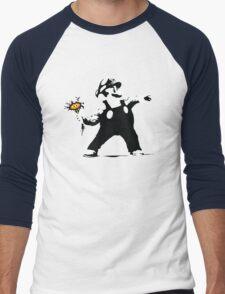 2 Bit Flower Thrower Men's Baseball ¾ T-Shirt
