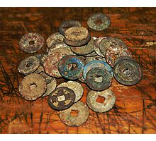 chinese old coins Photographic Print