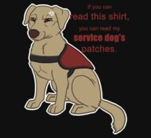 If you can read this - Service Dog T-Shirt