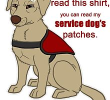 If you can read this - Service Dog by tiewolf