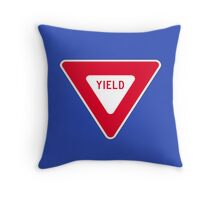 Yield Throw Pillow