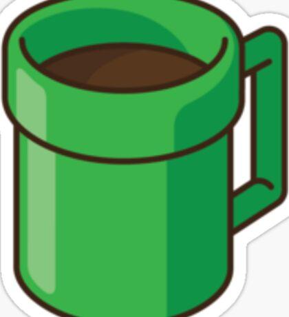 Warp Pipe to Coffee World Sticker