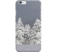 Beautiful mountaintop snowscape iPhone Case/Skin
