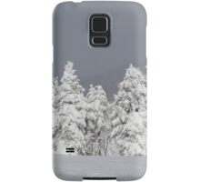 Beautiful mountaintop snowscape Samsung Galaxy Case/Skin