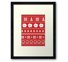 Sherlock Ugly Christmas Sweater Framed Print