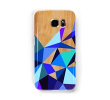 Wooden Geo Blue Samsung Galaxy Case/Skin