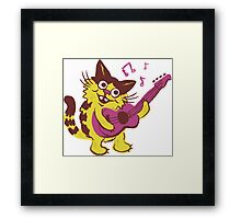 Clive the Musical Cat Framed Print