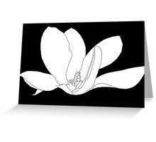 Magnolia 200 BW Drawing Greeting Card