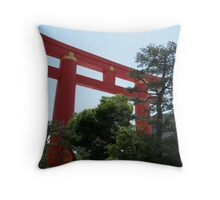 Red Torii Gate - Kyoto, Japan Throw Pillow