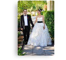 Sarah & Aaren Wedding Portrait Canvas Print