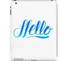 Hello iPad Case/Skin