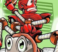 Little Red Robot Tee Sticker