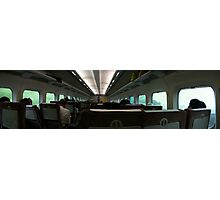 On the Bullet Train - Japan Shinkansen Photographic Print